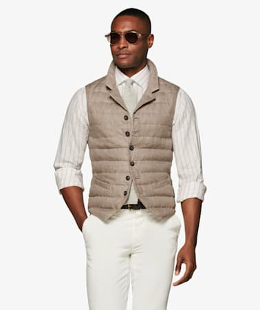 Light Brown Padded Vest