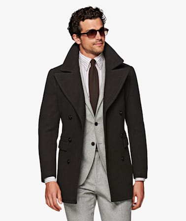 united kingdom 50% off wholesale dealer Green Peacoat J631i | Suitsupply Online Store