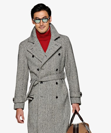 Grey Double Breasted Coat