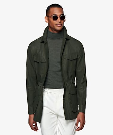 Green Waxed Field Jacket