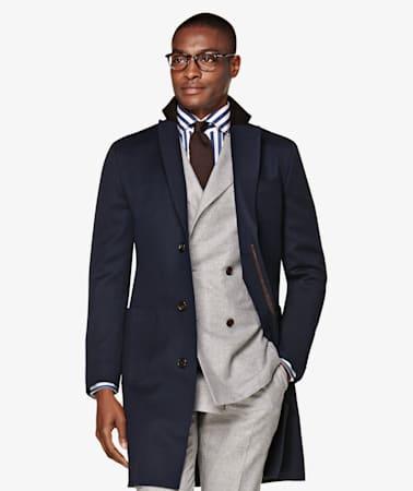 Jort Navy Overcoat