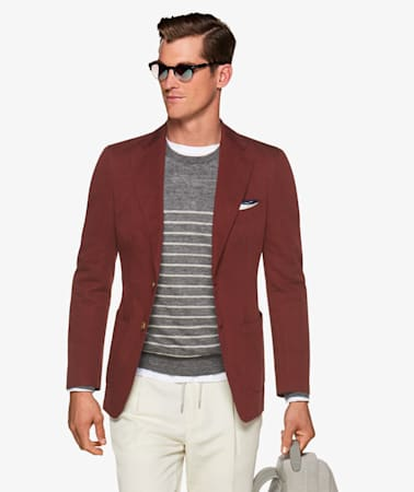 Jacket_Red_Plain_Havana_C1232I