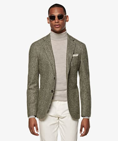 Havana Green Herringbone Jacket