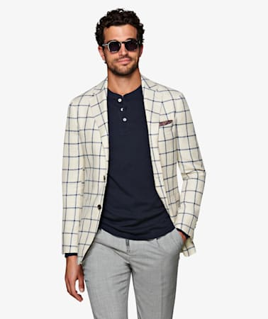 Jacket_Off_White_Check_Havana_C1309I