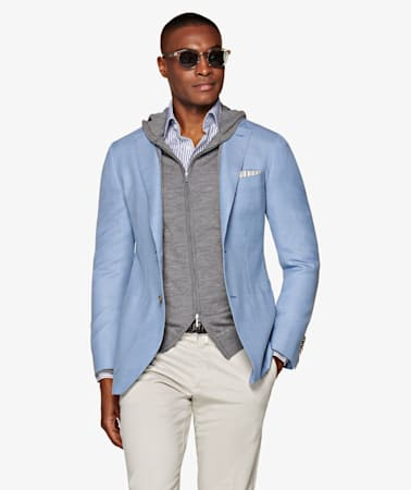 Havana Light Blue Jacket