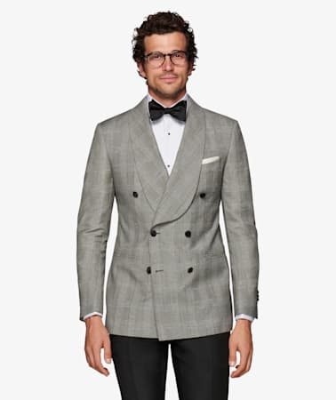 Grey Check Washington Tuxedo Jacket