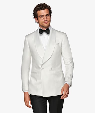 White Washington Tuxedo Jacket