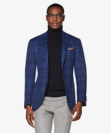 Jort Blue Check Jacket