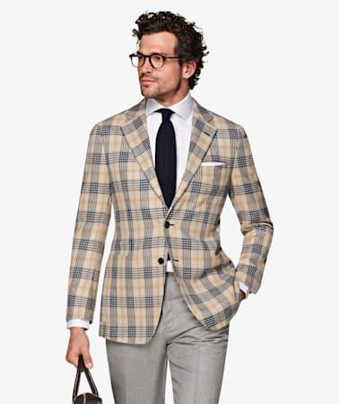Jort Light Brown Check Jacket