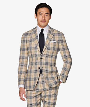 Jort Light Brown Check suit