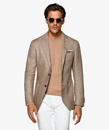 Light Brown Check Havana Jacket
