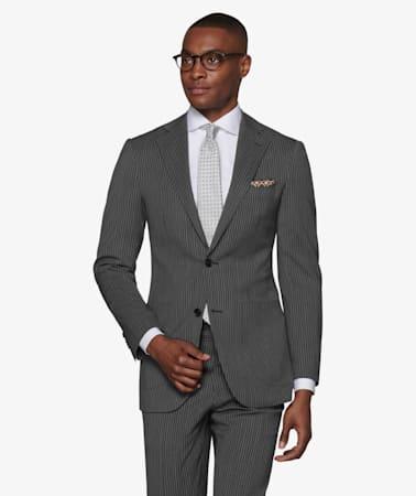 Havana Grey Stripe Suit