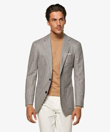 Havana Grey Stripe Jacket