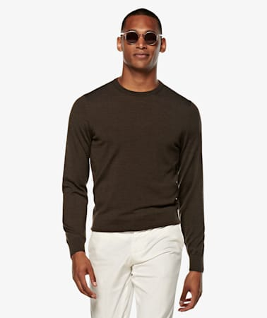 Dark Brown Crewneck