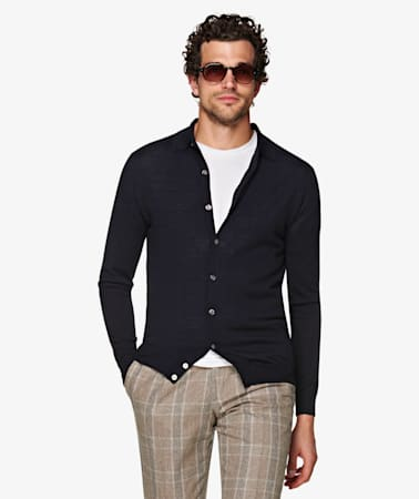 Navy Polo Cardigan