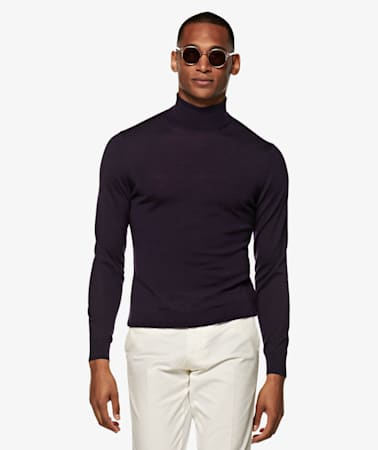 Purple Turtleneck