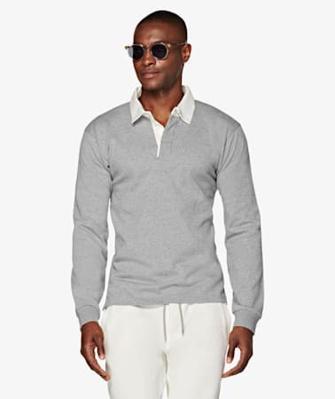 Light Grey Rugby Poloshirt