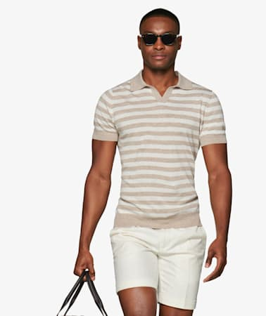 Sand Stripe Polo