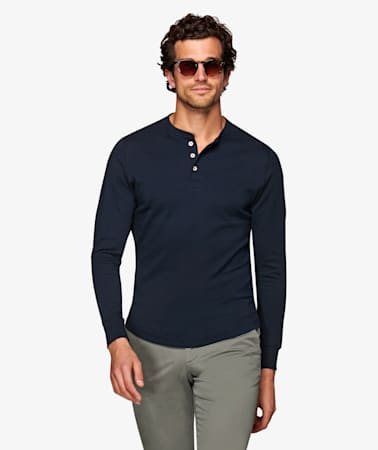 Navy Henley T-Shirt