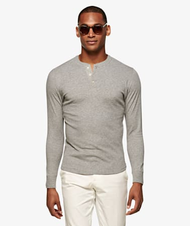 Light Grey Henley T-Shirt