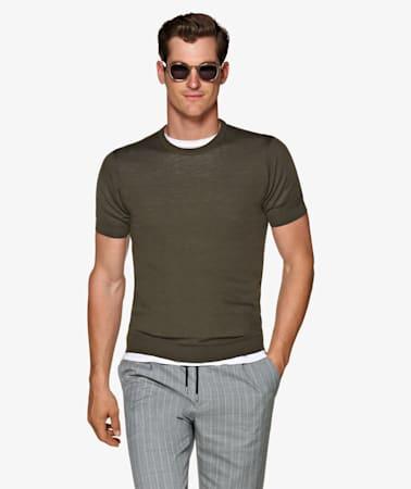 Green Knitted T-Shirt