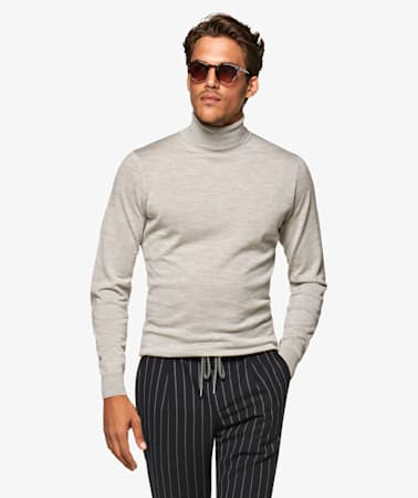 Jort Light Grey Turtleneck