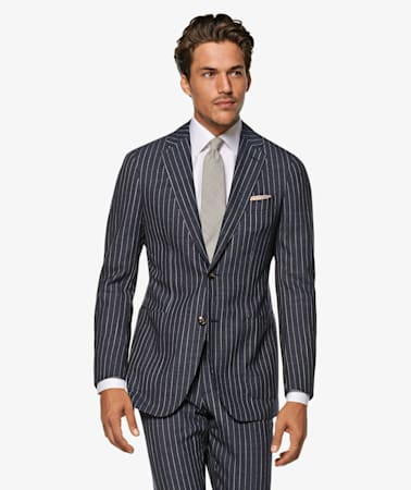 Blue Stripe Havana Suit