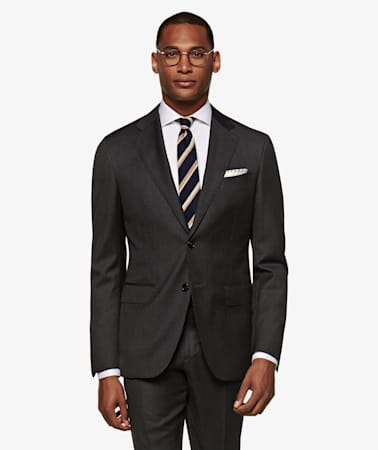 Dark Grey Pinstripe Napoli Suit