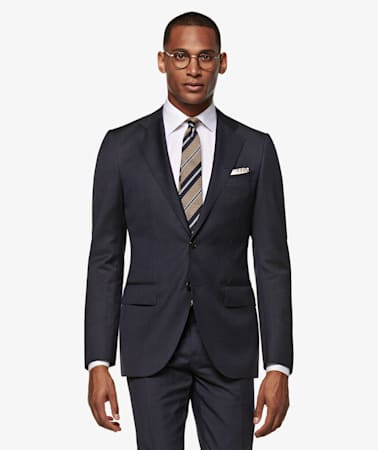 Lazio Navy Pinstripe Suit