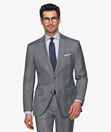 Napoli Grey Check Suit