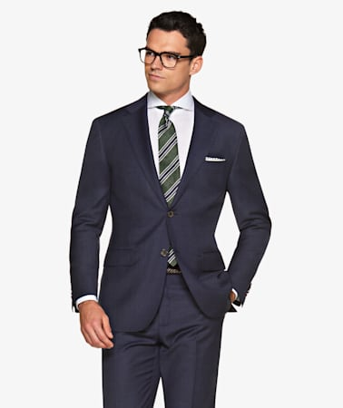 Suit_Navy_Basket_weave_Napoli_P5288MI