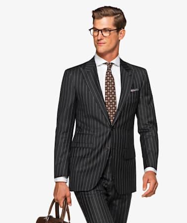 Washington Dark Grey Stripe Suit