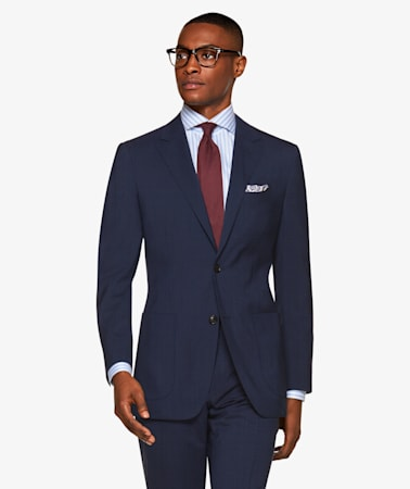 Havana Navy Check Suit