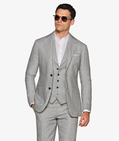 Havana Grey Houndstooth Suit