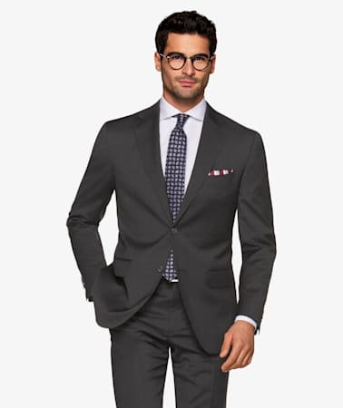 Dark Grey Stripe Napoli Suit