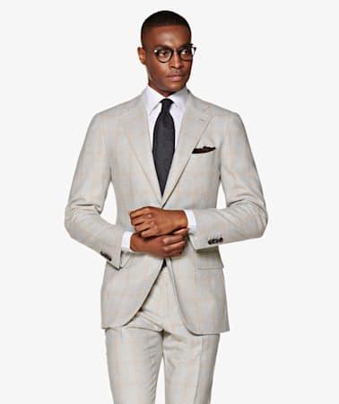 Suit_Light_Grey_Check_Lazio_P5509I