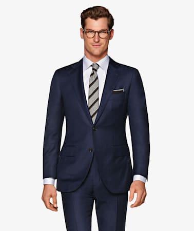 Suit_Navy_Check_La_Spalla_P5525I