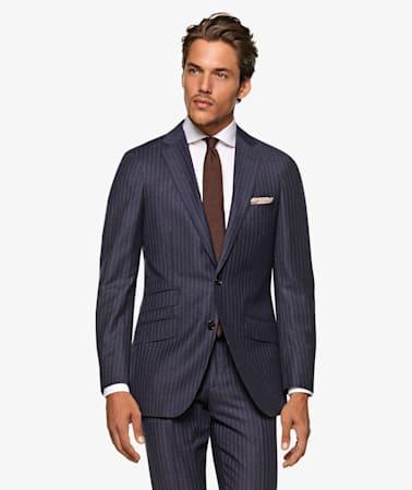 Sienna Navy Stripe Suit
