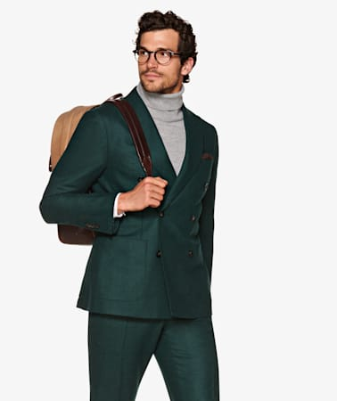 Suit_Mid_Green_Plain_Havana_P5550I