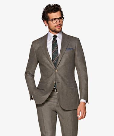 Suit_Mid_Brown_Plain_Lazio_P5551I