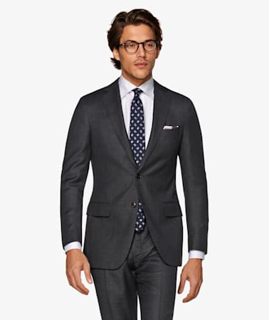 Sienna Dark Grey Bird's Eye Suit