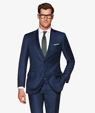 Suit_Mid_Blue_Check_Lazio_P5569I