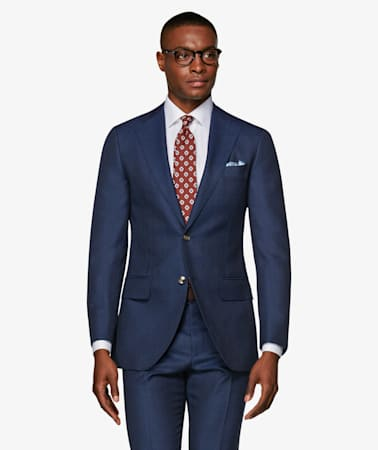 Lazio Mid Blue Check Suit