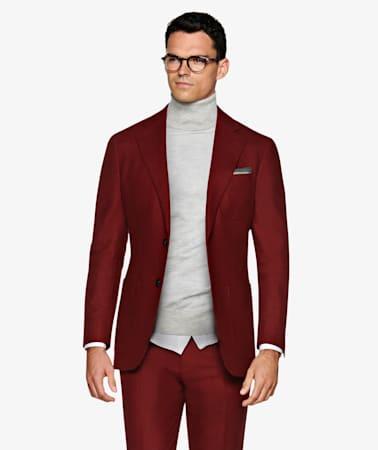 Suit_Dark_Red_Plain_Havana_P5607I