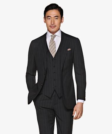 Jort Dark Grey Stripe Suit