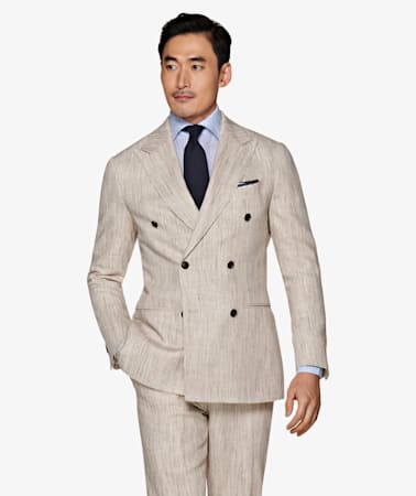 Jort Light Brown Stripe Suit