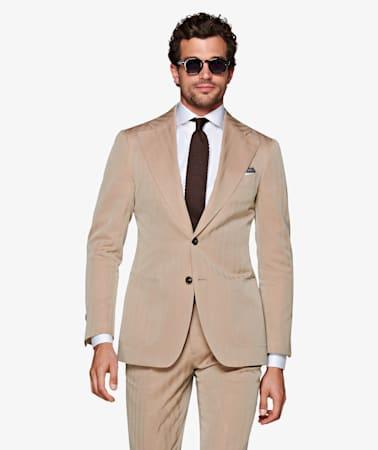 Havana Camel Herringbone Suit