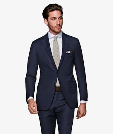 Sienna Navy Herringbone Suit