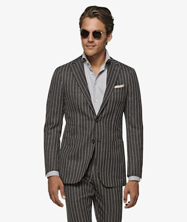 Havana Dark Grey Stripe Suit