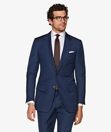 Suit_Navy_Check_Washington_P5729I